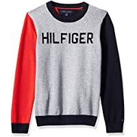 Tommy Hilfiger Adaptive Mens 7185119 Sweater with Velcro Brand Shoulder Closure Sweater