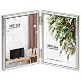 HAKUBA 額縁 メタルフォトフレーム SERENA 02(セレーナ 02) Lサイズ 2面 タテ シルバー FSR02-SVL2T