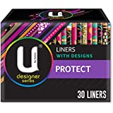 U by Kotex Designer Protect Liners, Pack of 30