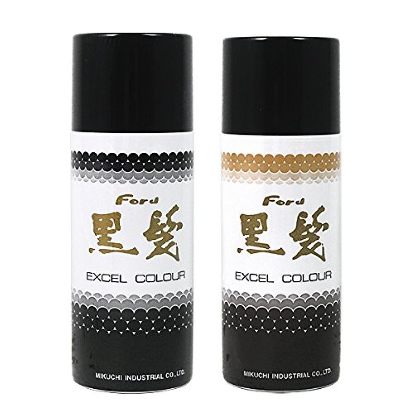 バケツタックルアリフォードヘア エクセル カラースプレー黒髪 黒茶 容量100g