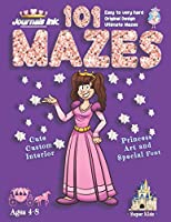 101 Mazes For Kids: SUPER KIDZ Book. Children - Ages 4-8 (US Edition). Cartoon Princess Pink Sparkle w custom art interior. 101 Puzzles with solutions - Easy to Very Hard learning levels -Unique challenges and ultimate mazes book for fun activity time! (Superkidz - Princess 101 Mazes for Kids)