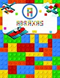 Abraxas: Primary Composition Notebook Story Paper Journal Gifts with Personalized Initial Name &Monogram for Kids (Boys) Dashed  Midline / Dotted and Picture Space Writing Sheets for Grades K-2 &3 School Exercise Book (Block / Brick Games Design) (Abraxas Primary Composition Notebook)