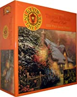 Thomas Kinkade Painter of Light Glory of Evening Glow in The Dark 1000 Piece Puzzle