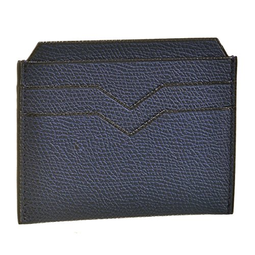 Valextra(ヴァレクストラ) パスケース メンズ グレインレザー カードケース ネイビー V8L77-028-000U [並行輸入品]