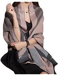 大判ストール レディー ス Foneso 厚手ストール 女性 スカーフ マフラー ショール ストライプ しましま ロングサイズ 冷房対策 优れた浸透力 【全9色】
