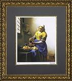 ユーパワー Museum series ミュージアムシリーズ(ジグレー版画) アートフレーム フェルメール 「牛乳を注ぐ少女」 MW-18037
