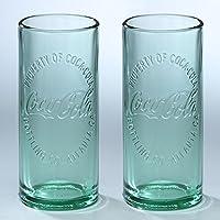 Coca-Cola(コカ・コーラ) ハッチンソングラス 16oz【2点セット】