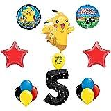 Pokemon GoレベルUp Happy 5th Birthday Balloon Decoratingキット