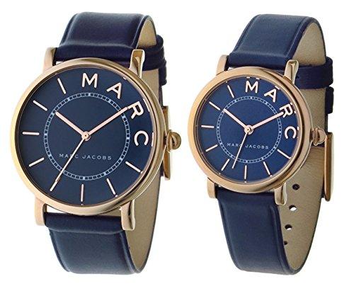 [マーク ジェイコブス] MARC JACOBS 腕時計 ロキシー ROXY クオーツ MJ1534 / 1539 ネイビー ペアウォッチ [並行輸入品]