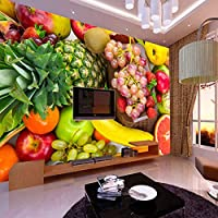 Noweima1999 カスタム3D写真の壁紙果物と野菜の装飾絵画キッチンリビングルームの寝室の壁絵画壁紙B-280X200Cm