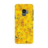 Galaxy S9 SCV38 ギャラクシー S9 Samsung サムスン docomo ドコモ スマホカバー カバー ケース pc ハードケース フラワー 花 フラワー 黄色 写真 002624