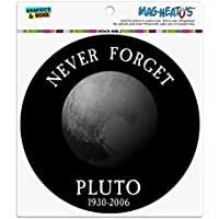冥王星の惑星天文学記念碑を忘れないでください自動車用自動車用冷凍庫ロッカービニールサークルマグネット
