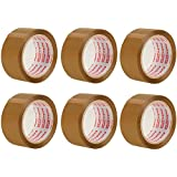Storite Pack 6 Rolls 65 Meter Clear Transparent Packaging Tape for Parcels and Boxes, This 6 Rolls Pack of Heavy Duty Brown Packing Tape Provides a Strong (Brown)