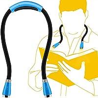 Duonete 地震緊急用 LEDネックライト ブックライト 首掛け 夜間読書 トラベルライト ウォーキング USB充電 フレキシブル 自由自在曲がれる (スカイブルー)