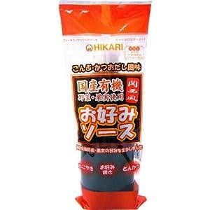 光食品 国産有機野菜・果実使用 関西風お好みソース 300g×20本