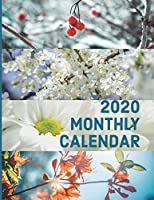 2020 Monthly Calendar: Large Monthly Organizer for your Business and Social Events (Four Seasons Floral)