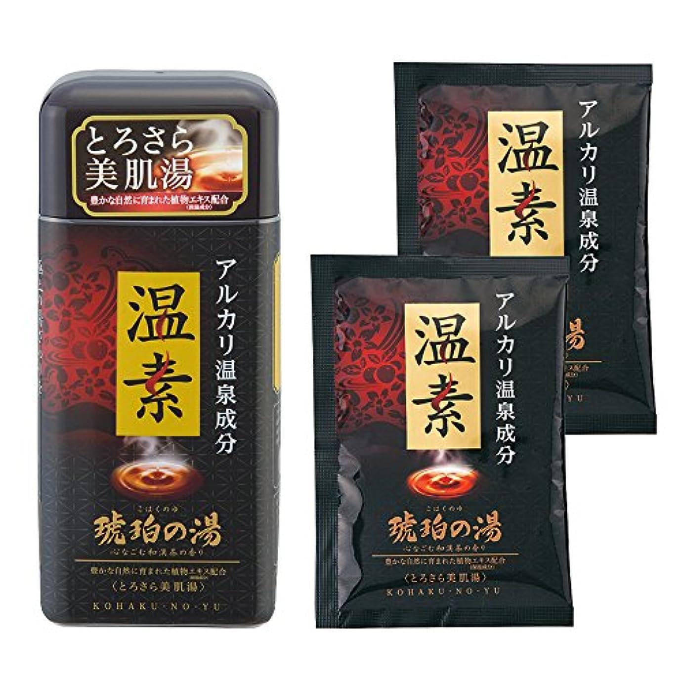 舗装口径【医薬部外品】【分包2包付】温素 入浴剤 琥珀の湯 [600g + 分包2包]