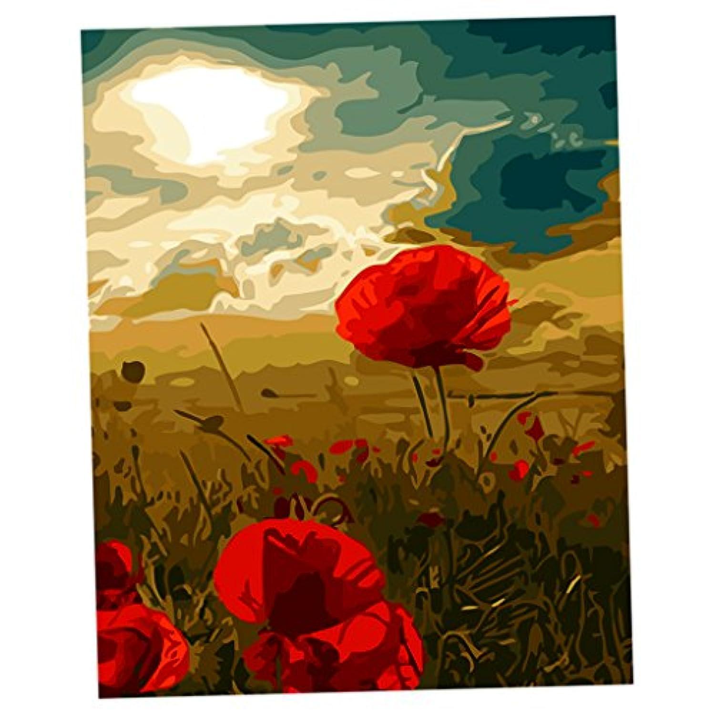 SONONIA 全12タイプ 数字 キット キャンバス 抽象絵画絵 DIY アクリル絵画 - 1