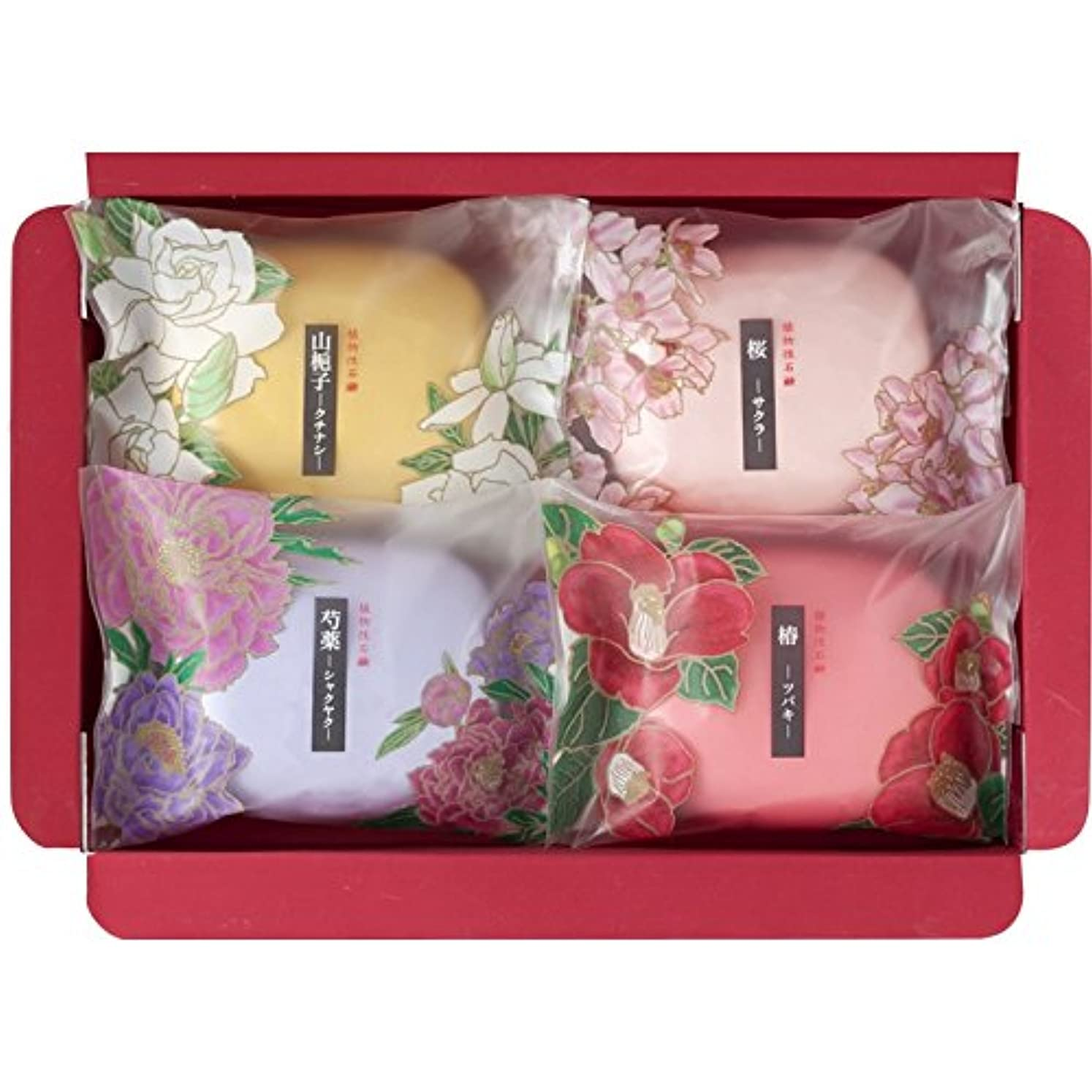 ファンタジー豊富なインク彩花だより SAK-05 【石けん 石鹸 うるおい いい香り 固形 詰め合わせ セット 良い香り 美容 個包装 肌に優しい 日本製】