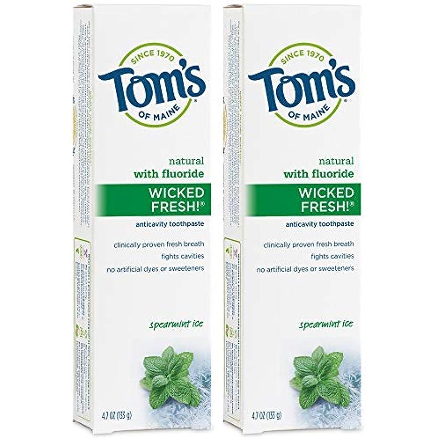警戒フォーカス根拠Tom's of Maine Wicked Fresh Long Lasting Fresh Breath Fluoride Toothpaste, Spearmint Ice, 4.7-Ounce by Tom's of...