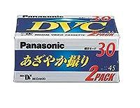 30分ミニDVカセット 2巻パック パナソニック AY-DVM30V2