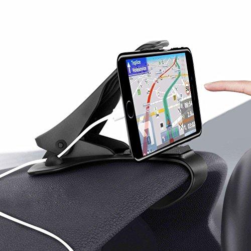 Zenoplige 車載ホルダー スマホスタンド スマホホルダー カーホルダー クリップ式 HUD設計 ケーブルドロップ付き スマホ iPhone Android 3~6.5インチまで多機種対応