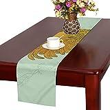 LKCDNG テーブルランナー かわいい にわとり クロス 食卓カバー 麻綿製 欧米 おしゃれ 16 Inch X 72 Inch (40cm X 182cm) キッチン ダイニング ホーム デコレーション モダン リビング 洗える