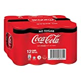 Coca-Cola Zero Sugar, 320ml (Pack of 12)