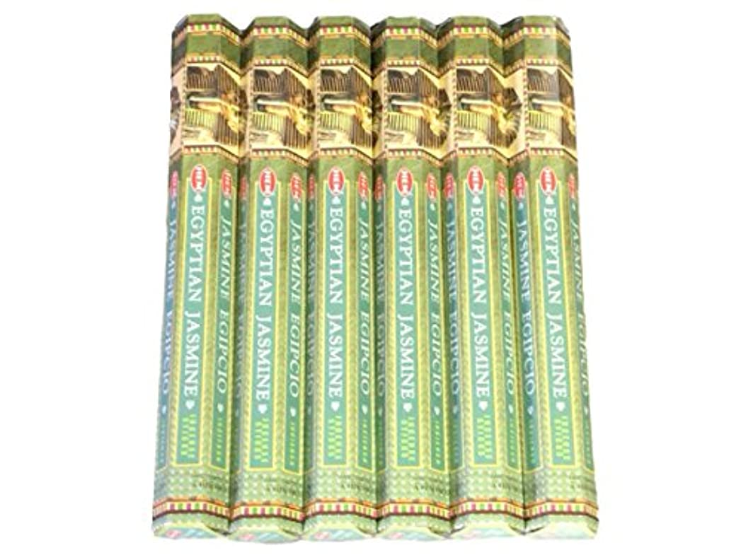 歩行者硬さ忠実HEM ヘム エジプシャンジャスミン EGYPTIAN JASMINE ステック お香 6箱 …