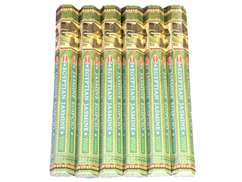 覗く汚れる大統領HEM ヘム エジプシャンジャスミン EGYPTIAN JASMINE ステック お香 6箱 …