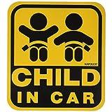 ナポレックス 車用 サイン セーフティーサイン CHILD IN CAR マグネットタイプ(外貼り) 傷害保険付 SF-33
