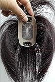 Richair 最高級 5cm*8cm ヘアピース 部分ウィッグ 人毛100% つけ毛 ウィッグ 増毛部分かつら 人毛で制作 白髪隠れ 通気性よく ..