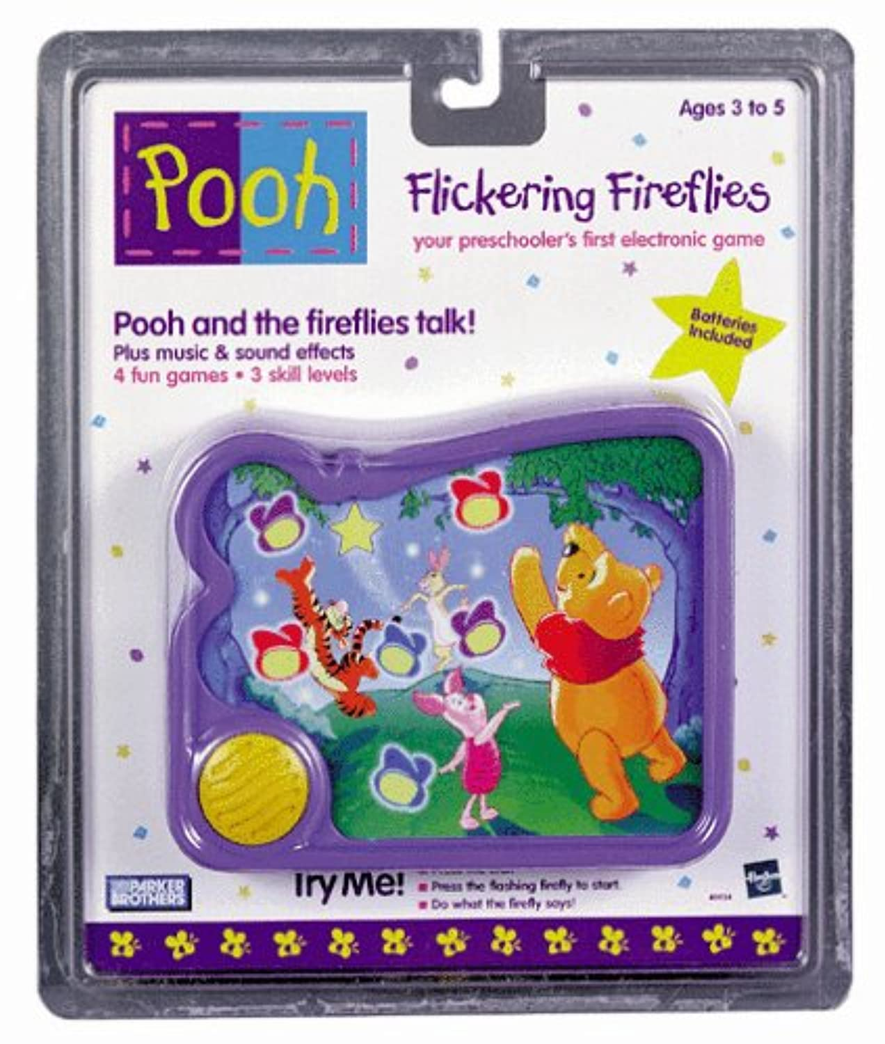 [ミルトンブラッドリー]Milton Bradley Winnie The Pooh Flickering Fireflies Handheld Electronic Game for Preschoolers, 4 Games in One C-015D [並行輸入品]