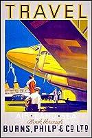 空港市内の交通クルーズ旅行Agncy広告、ポスター11x17 [並行輸入品]