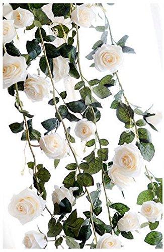 eVday 藤 造花 1.8m 壁掛 観葉植物 ガーデンフェイク花 花柄装飾 DIY