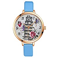 Rockyu ブランド 腕時計 レディース 女性 オシャレ サファイアガラス 海外ブランド マルチカラー タワー レディース時計