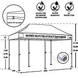 Eurmax 4つ側壁ボーナスローラーバッグ(レッド) 備えたプレミアム10×20 EZポップアップ表示キャノピーインスタント天蓋商用グレード屋外キャノピーパッケージディールパーティーテント結婚式ガゼボ迅速な避難所 画像