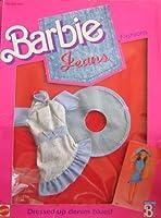 バービーJeans Fashions Dressed Upデニムブルース。wドレス, Hat & Shoes ( 1988)