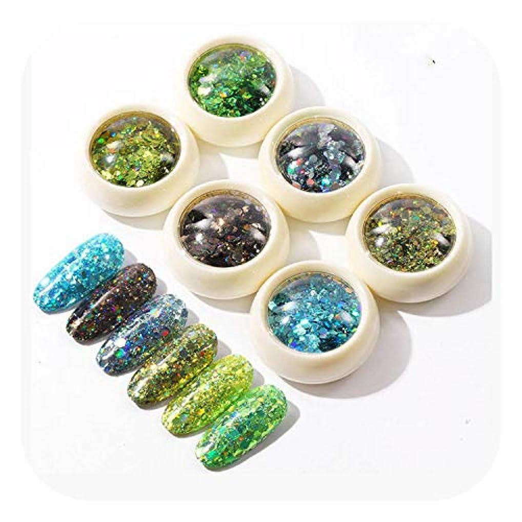 バーマドストレスの多い一般的に言えば6ピースネイルグリッターグラデーションネイルスパンコール真珠光沢ルースパウダーネイルアートdiy装飾,China,DB03