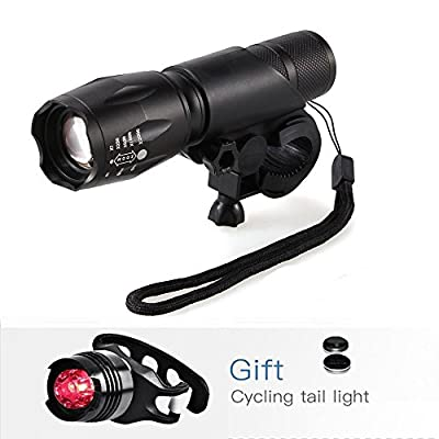 Waterproof LED Bike Light, Navestar 1000 Lumens Bicycle Light Set, Super Bright Led Flashlight, Front Light (5 Mode) + Tail Light (3 Mode) for Cycling Camping Outdoor Sports Hunting