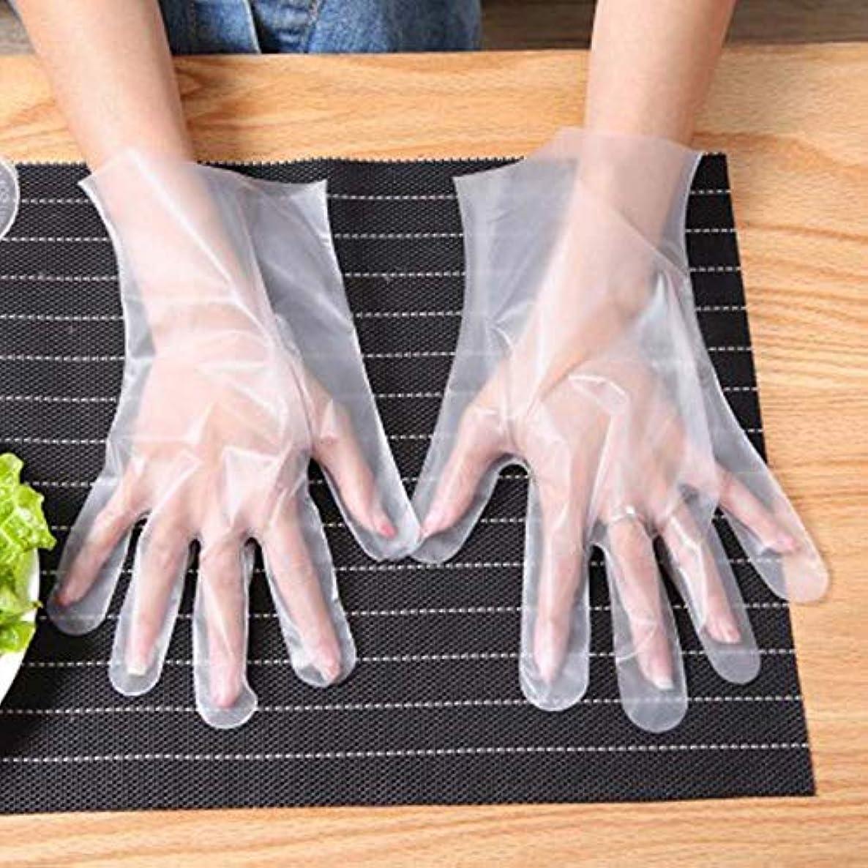 教える心から教養がある使い捨て手袋 世帯 食べ物 ケータリングキッチン 厚くする プラスチック透明 グローブ 個別にパッケージ化されたCPE 100 /箱