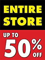 Entire Store Up To 50% Off Retail Display Sign 18w x 24h 5 Pack [並行輸入品]