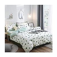 綿のシーツ、ホテルの寝室の枕カバーシンプルなホームテキスタイル寝具四季普遍的な3色 (色 : 白, サイズ さいず : 1.2m)