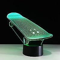 3Dランプスケートボード7色LEDタッチナイトライト用Led USBテーブルLampara Lampe赤ちゃん寝室用LEDライト、7色タッチ