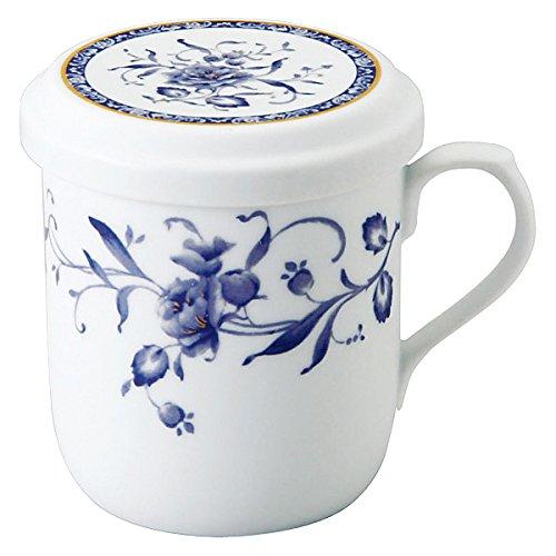 NARUMI(ナルミ) フタ付マグカップ ペレーネブルー 290cc 茶こし付 電子レンジ温め対応 日本製 40721-32930