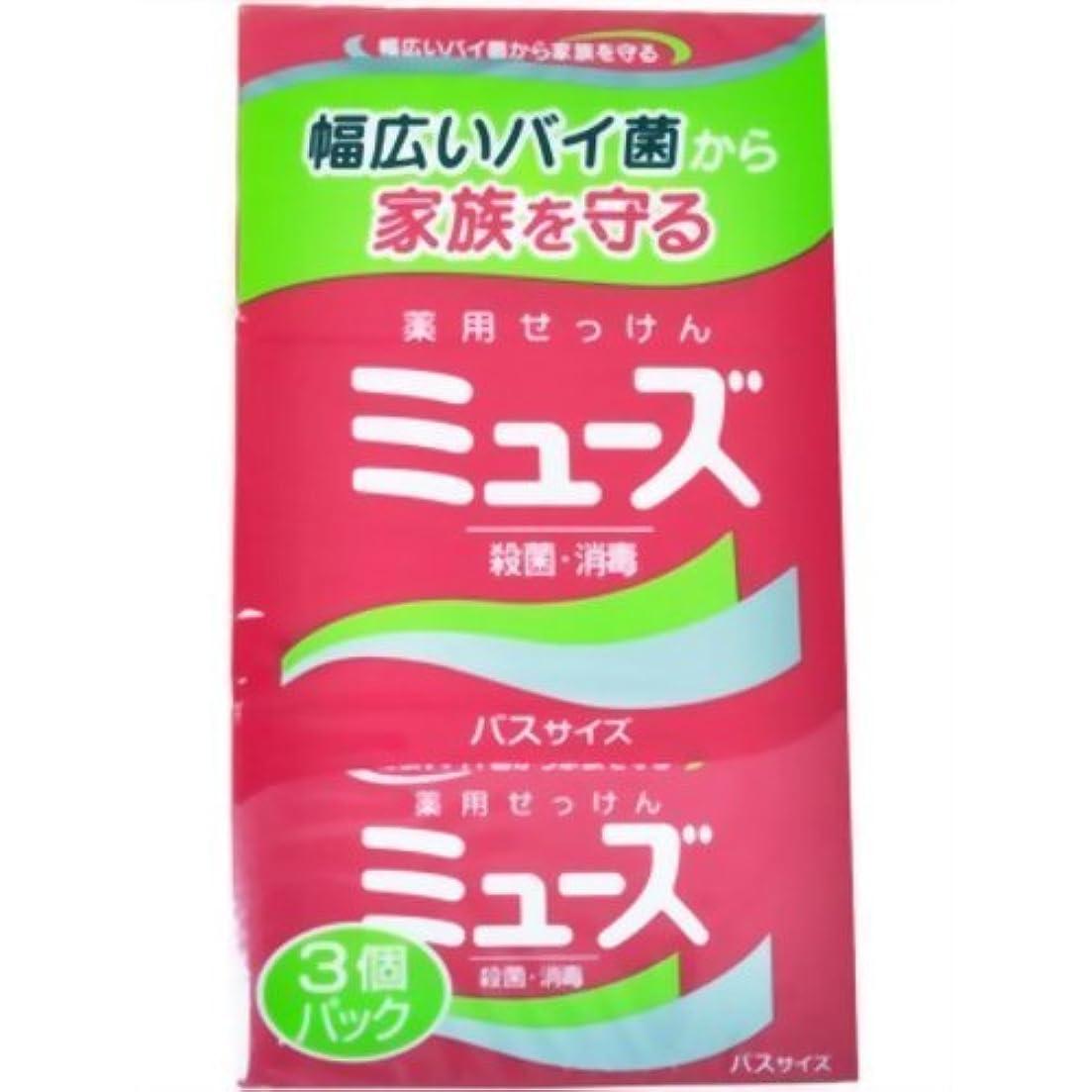 眩惑する適切なさせるミューズ石鹸バスサイズ ×3個セット