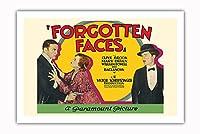 忘れられた顔 - 主演 Clive Brook, Mary Brian, William Powell そして Olga Baclanova - ビンテージなフィルム映画のポスター c.1928 - プレミアム290gsmジークレーアートプリント - 61cm x 91cm