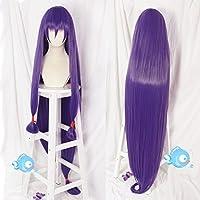 耐熱コスプレウィッグ  パープル  wig  かつら  (ロング150cm)
