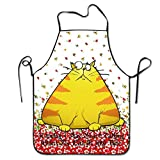 Warning I May Start Talking About My Cat At Any Time Hip Hop Bib Apron For Women Men Adults Waterproof Natural