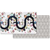 Skip Hop Double Play Reversible Play mat, Vibrant Village/Sketch Triangle